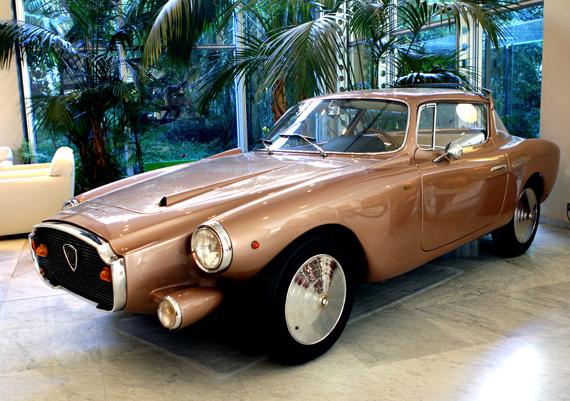 Lingotto's Lancia Loraymo in the lobby